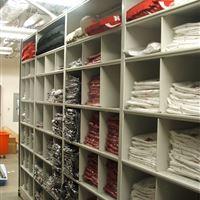 Jersey Storage on Mobile Shelving at University of Nebraska