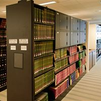 Cantilever Library Shelving with secure storage lockers