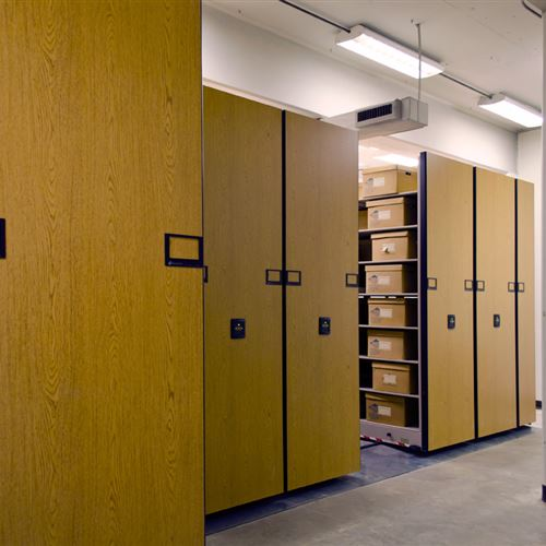 Compact Library Storage at Hoskins Library