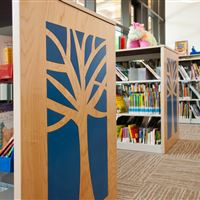 Library Shelving with Custom End Panels