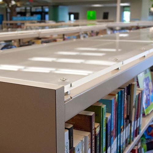 Cantilever Library Shelving with Custom Tops