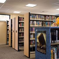 Compact Library Book Storage at Horry County Bucksport Library
