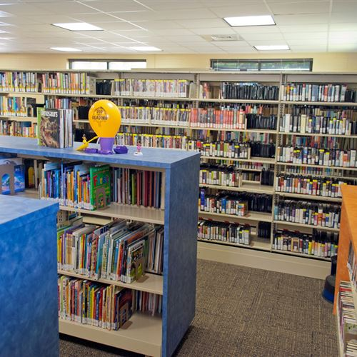 Cantilever Shelving for Children's Books at Horry County Bucksport Library
