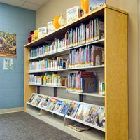 Cantilever Library Shelving and Display Shelving