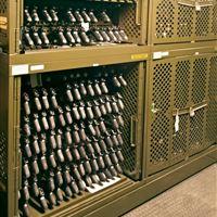 Secure Pistol Storage in Weapon Racks at Fort Stewart