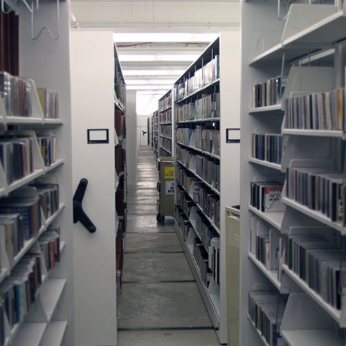Compact Mobile Storage in St. Louis Central Library