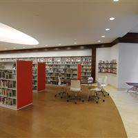 Cantilever shelving system at St. Louis Central Public Library