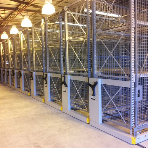 ActivRAC 7M with Wire Enclosures for Secure Military Storage
