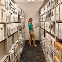 Powered High Density Mobile Storage System for Archival Documents