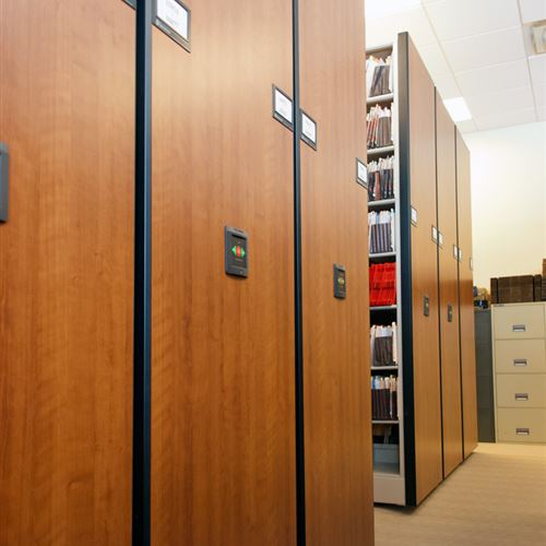 Powered Compact Shelving for Law Firm Storage