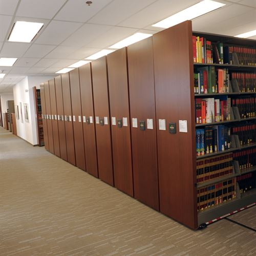 Law Library in Powered Compact Mobile Shelving