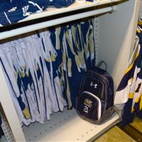 Sports equipment storage for uniforms