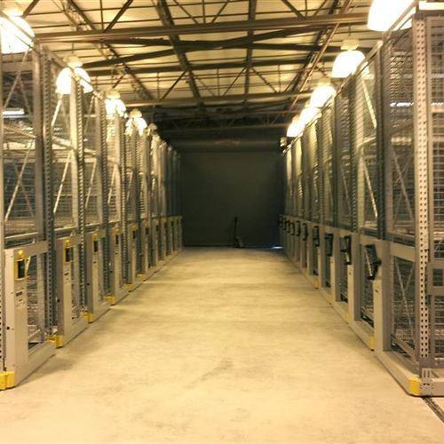 Mobilized Military Security Cages Saves Space