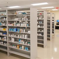 4-Post Shelving for Pharmacy Storage