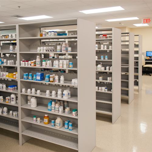 4-Post Shelving for Pharmacy Storage