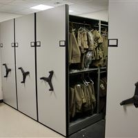 Uniform Storage for Sheriff's Department Using Mobile Shelving