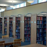 Cantilever Library Shelving with unique lighting solution