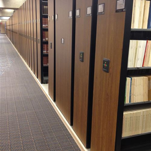Mobile Library Shelving at Criss Library, University of Nebraska Omaha