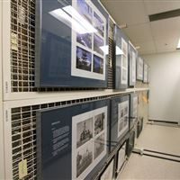 Art Racks for Print Storage at the Naval Undersea Museum