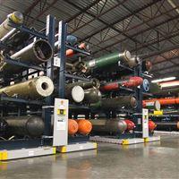 Industrial Mobile Pallet Racks for Storing Large Torpedoes