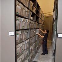 High Density Mobile Evidence Storage System