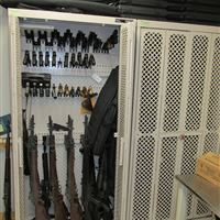 Weapons Storage Racks at James City Police Department