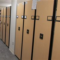 Powered High-Density Mobile Shelving at Langley