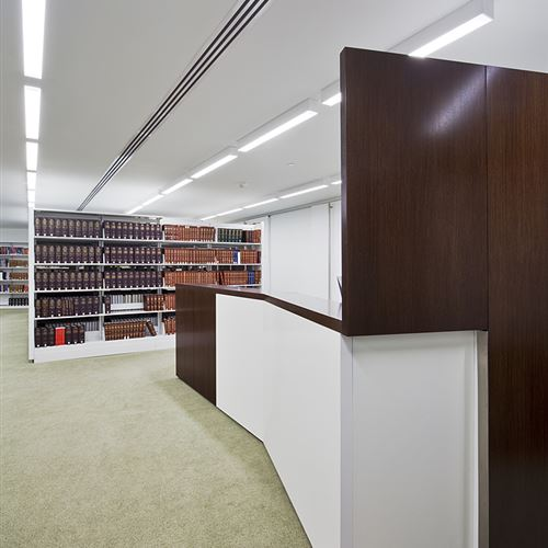 Legal Library Shelving for Contemporary Law Firm