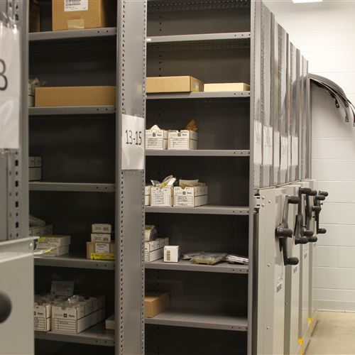 Mobile Racking to Store Parts and Tools