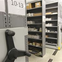 Parts and Tools Stored on ActivRAC Mobile Racking