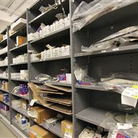 Service Parts Stored on Industrial Shelving Systems