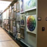 Art Storage on Mobile Art Rack at Museum