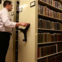 Book Storage on Mobile Shelving at Delaware Art Museum