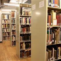 Book Storage on Static Shelving at Delaware Art Museum