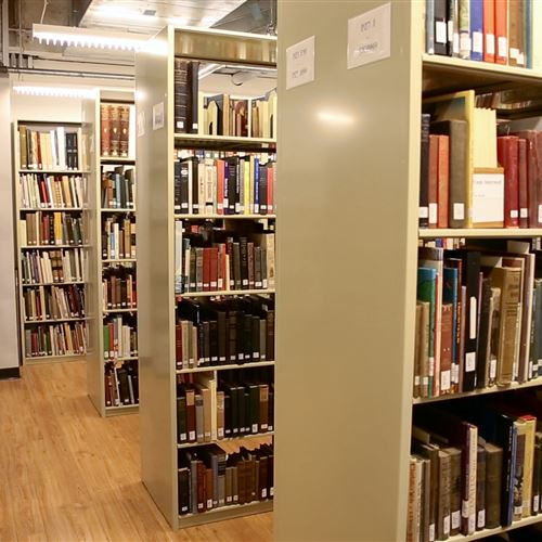 Book Storage on Static Shelving at Delaware Art Museum