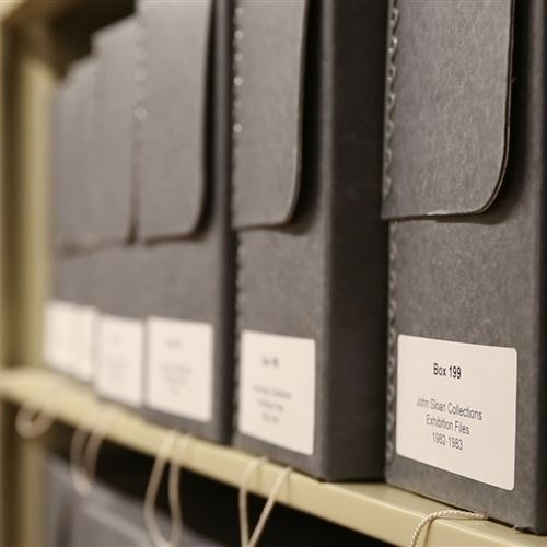 Archival Storage at Delaware Art Museum