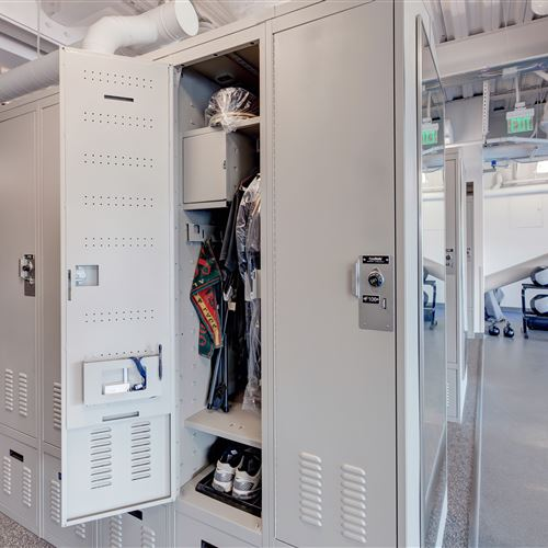 Custom Locker Storage at Salt Lake City Public Safety Building