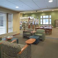 Public Library Study Spaces with Cantilever Shelving System
