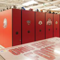 Ohio State University Football Equipment Storage