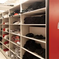 Football Uniform and Gear Storage at Ohio State University