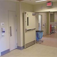 View of Closed CoreStor Unit from Hospital Corridor