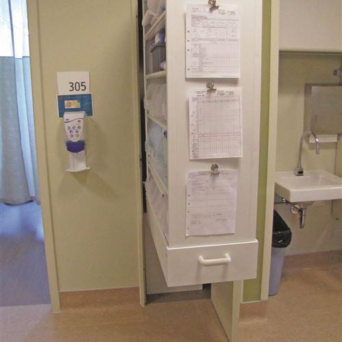 CoreSTOR Patient Server open with view of Patient Room