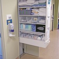 Sterile Supply Cabinet outside Patient Room in Hospital
