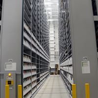 Archival storage at the Zhang Legacy Collections Center