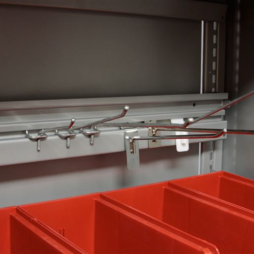 EZ Rail with Pegs and Bins for Small Parts Storage