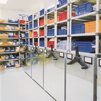 Stainless Steel Mobile Storage in Sterile Healthcare Environment