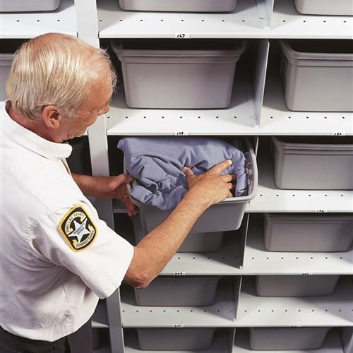 Mobile Shelving Creates Extra Storage Space at Pinellas County Jail