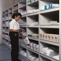 Mobile Shelving for General Jail Supply Storage