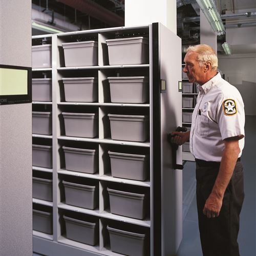 Mobile Shelving for Inmate Property Storage at Pinellas County Jail