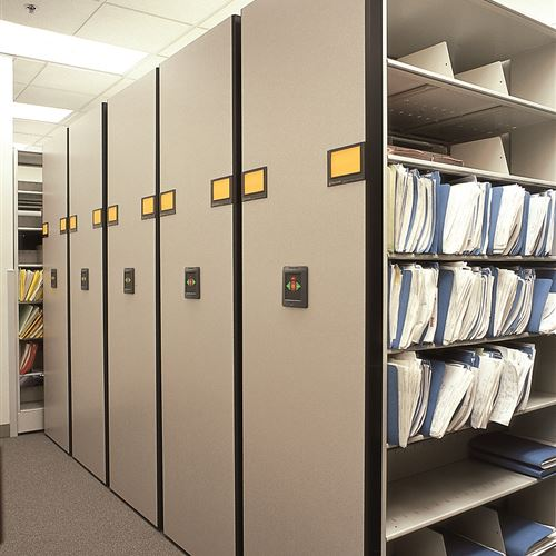 High Density Mobile Storage for Courthouse Records